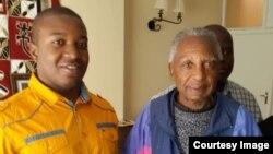Kudzai Samaita with Father Ribeiro
