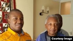 Kudzai Samaita with Father Ribeiro (Umfanekiso ngokaKudzai Samaita)