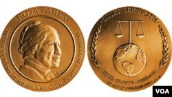 USA Congress gold medal for Rosa Parks