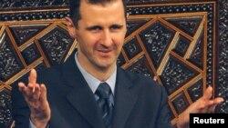 ဆီးရီးယား သမၼတ Bashar al-Assad ။