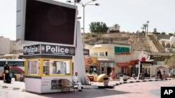 یک پست پلیس گردشگری مصر در منطقه توریستی شرم الشیخ - آرشیو