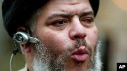 Abu Hamza al-Masri es el ex imán de la mezquita Finsbury Park, en Gran Bretaña.