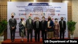ກະຊວງສາທາລະນະສຸກ, USAID ແລະ ອົງການຊ່ວຍເຫຼືອເດັກ ສະເຫລີມສະຫລອງຜົນສໍາເລັດຂອງໂຄງການໂຄງການຢູເສດເນີເຈີ ພາຍໃຕ້ທຶນຊ່ວຍເຫລືອ ຂອງອົງການ USAID.