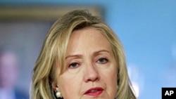 ລັດຖະມົນຕີການຕ່າງປະເທດສະຫະລັດທ່ານນາງ Hillary Clinton