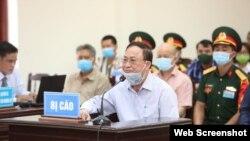 Cựu thứ trưởng Bộ Quốc phòng Nguyễn Văn Hiến bị phạt 4 năm tù. Photo VTV