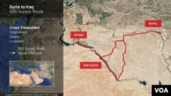 Syria to Iraq ISIS supply route