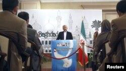 El jefe negociador de Irán, Saeed Jalili durante una conferencia sobre energía nuclear en Baghdad, el 24 de mayo de 2012. La AEIA habría encontrado uranio muy enriquecido en las plantas de Irán.