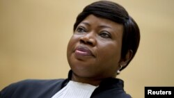 FILE - Prosecutor Fatou Bensouda , Sept. 29, 2015. An Israeli government source said there was contact with the ICC on procedural issues, but declined to go into detail.