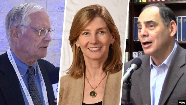 از راست: جیمز کارافانو، ننسی لیندبورگ و انتونی کوردزمن