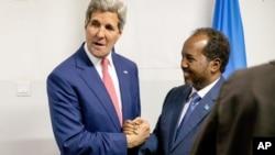 Джон Керри с президентом Сомали Хассаном Шейхом Мохамудом