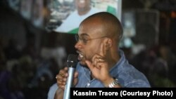 Karim Keita lors de la campagne électorale à la commune II de Bamako, au Mali.