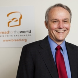 'Bread for the World' President David Beckmann praises a new US program to reduce poverty and malnutrition in 20 countries by boosting the productivity of small farmers and the agriculture industry.