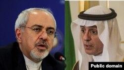 ظریف و عادل الجبیر وزرای خارجه ایران و عربستان سعودی