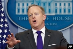 숀 스파이서 미국 백악관 대변인.