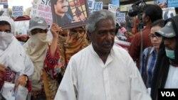 په بلوچستان کې د بې درکه کسانو د حقونو تنظیم وایس فار بلوچ مسنگ پرسنز مشر ماما قدیر بلوچ