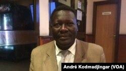 Brice Mbaimong Guedmbaye, président du MPTR, à N'Djamena, Tchad, le 6 juillet 2019. (VOA/André Kodmadjingar)