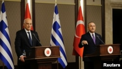 15 Nisan 2021 - Yunanistan Dışişleri Bakanı Nikos Dendias Ankara'da mevkidaşı Bakan Mevlüt Çavuşoğlu ile bir araya geldi