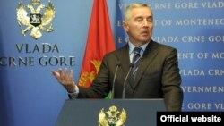 Crnogorski premijer Milo Đukanović na konferenciji za novinare (rtcg.me)