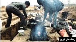 عکس روزنامه شهروند از کارتنخوابهای گورخواب - عکس: سعید غلامحسینی