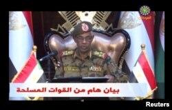 아와드 이븐 아우프 국방장관이 11일 국영 텔레비전 담화에서 '정권 전복'을 선언하고, 오마르 알바시르 대통령을 모처에 구금했다고 밝혔다.