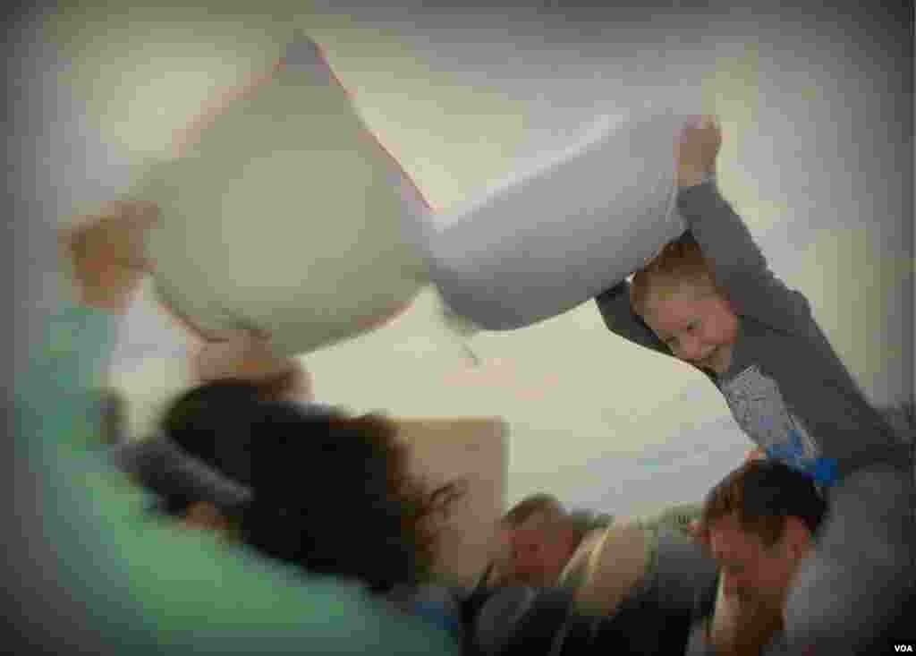 День битвы на подушках.Вашингтон