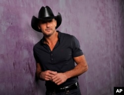 Country singer and actor Tim McGraw in Nashville, Tennesse, Jan. 15, 2013.