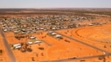 The Australian Outback town of Quilpie is photographed from the air, on Oct. 2, 2021. Quilpie had hoped its offer of a free residential block of land to anyone who would make it their home might attract five new families to the remote community of 800.