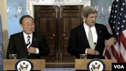 克里和联合国秘书长潘基文