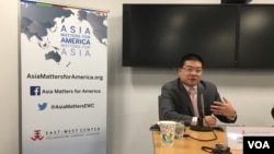 新加坡國立大學政治系助理教授莊嘉穎(美國之音鍾辰芳拍攝)