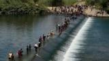 APTOPIX Border Migrant Camp
