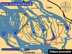 Map of Don Sahong Hydropwer Dam