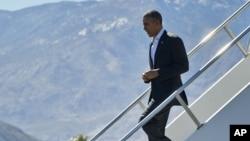 Барак Обама прибывает на форум АСЕАН в Калифорнии. 15 февраля 2016г.