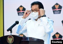 Juru Bicara Satgas Nasional Penanganan Covid-19, Prof. Wiku Bakti Bawono Adisasmito. (Foto courtesy: covid19.go.id)