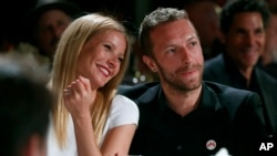 Gwyneth Paltrow dan Chris Martin (Colin Young-Wolff /Invision/AP)