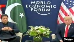 د امریکې صدر ډانلډ ټرمپ او د پاکستان وزیراعظم عمران خان