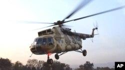 Foto de archivo de un helicóptero MI-17 de fabricación rusa como el que se estrelló este viernes en el norte de Pakistán.