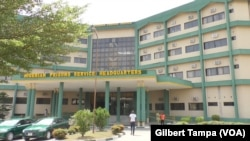 Les Services pénitentiaires du Nigeria à Abuja, le 20 novembre 2018. (VOA/Gilbert Tampa)