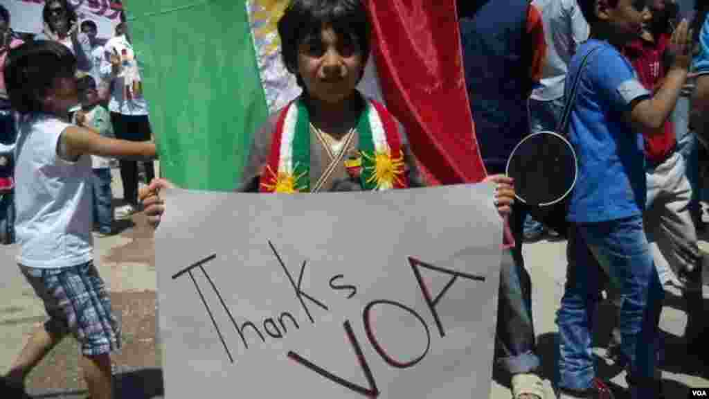 Syrian Kurdish Child thanks VOA