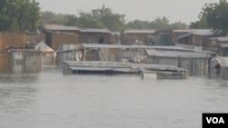 Un quartier de N'Djaména sous les eaux (octobre 2012)