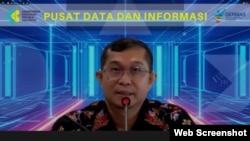 Kepala Pusat Data dan Informasi Kemenkes Anas Ma'ruf dalam telekonferensi pers , di Jakarta , Senin (31/8) mengimbau kepada masyarakat untuk segera menghapus aplikasi eHAC (VOA)