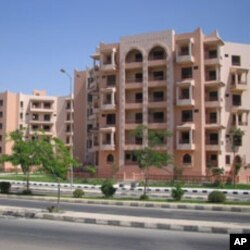 New Cairo, a desert housing development, where the sun shines almost every day of the year