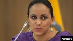 Gabriela Rivadeneira, expresidente de la Asamblea Nacional de Ecuador, del partido Alianza País, del cual es secretaria ejecutiva desde 2017. Foto archivo,. Mayo 13 de 2013. Reuters/Guillermo Granja.