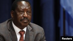 Kenya's Prime Minister Raila Odinga at the U.N. headquarters in New York, September 24, 2011.