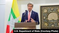 2016年5月22日美國國務卿克里訪問緬甸並發表講話。
