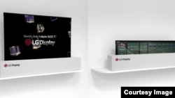 LG Display's 64 inch prototype is powered by the same OLED technology used in TVs. (LG)
