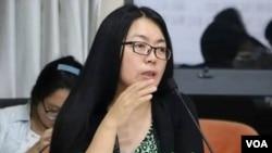 陕西都市报华商报的原首席记者、评论部主任江雪。(维权网图片)