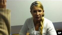Юлия Тимошенко (снимок сделан в Харьковском госпитале в сентябре 2012 года)