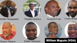 """Arguidos do caso """"Dívidas Ocultas"""", Maputo, Moçambique"""