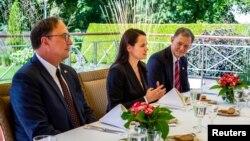Опозиційний білоруський політик Світлана Тихановська зустрілась з заступником Держсекретаря США Стівено Біганом