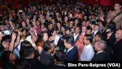 Presiden Jokowi bertemu dengan Diaspora Indonesia di Auditorium Palace of Fine Arts di San Fransisco, 16 Februari 2016 (Foto: Biro Pers - Setpres)